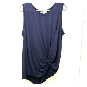 Navy blue tank with side/ front tie